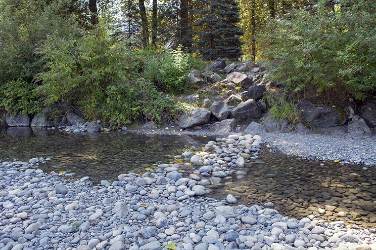 The Vedder River is steps from the campground